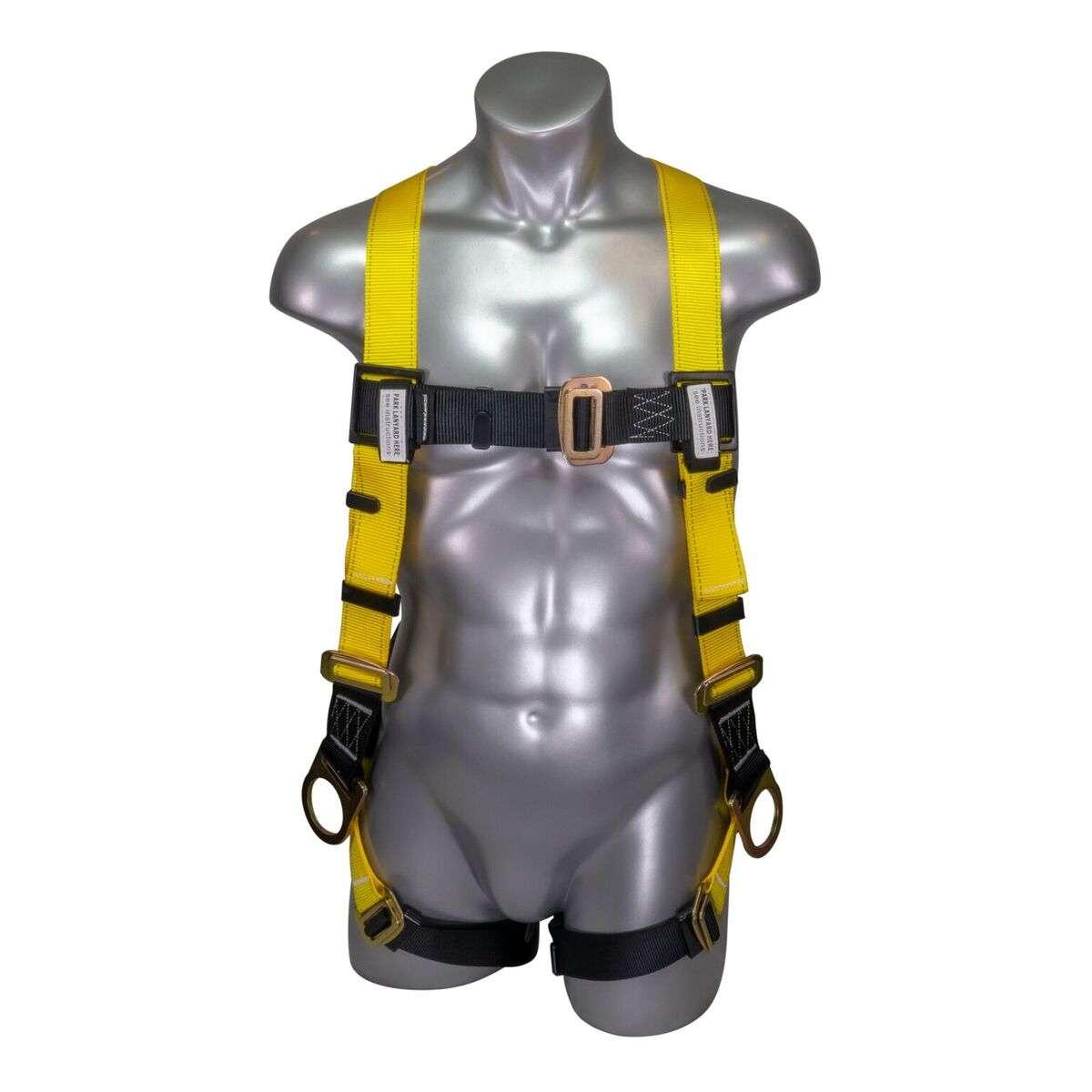fullbodyharnesssidedrings full body harness 3 d rings (dorsal & side) 5 point adjustability