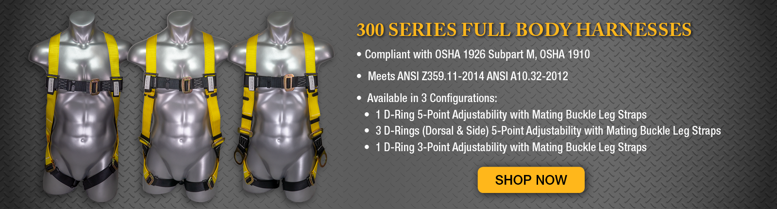 OSHA 1910 & 1926 & ANSI Z359 Approved Fall Protection Fall Safety